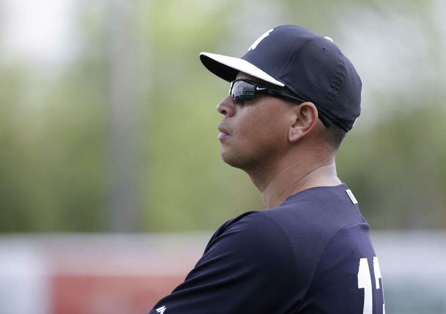 New York Yankees' Alex Rodriguez watches during a spring training baseball workout, Monday, March 2, 2015, in Tampa, Fla. (AP Photo/Lynne Sladky) Photo: AP / AP
