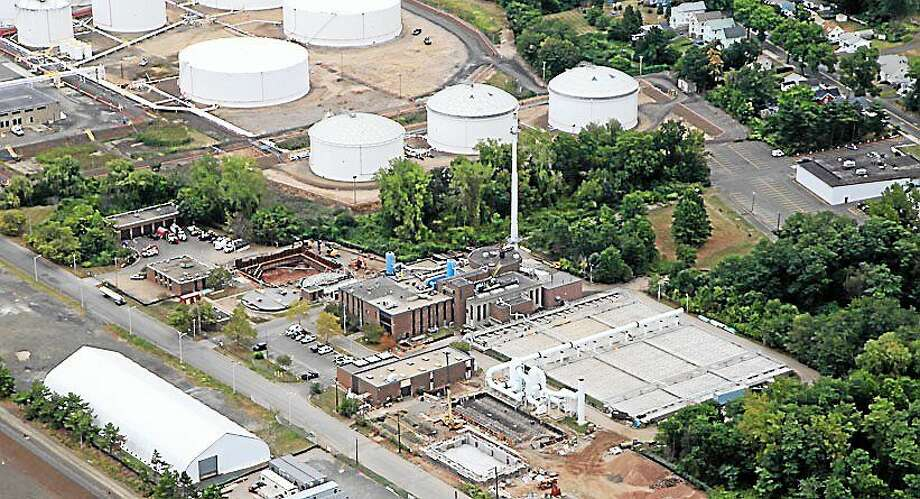 Aerial view of New Haven's East Shore treatment plant, the second-largest wastewater treatment plant in the state. Photo: CONTRIBUTED PHOTO — Greater New Haven Water Pollution Control Authority