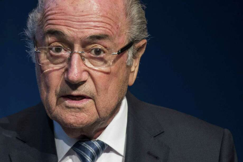 FIFA President Sepp Blatter speaks during a news conference Tuesday at the FIFA headquarters in Zurich, Switzerland. Photo: Ennio Leanza — The Associated Press   / Keystone