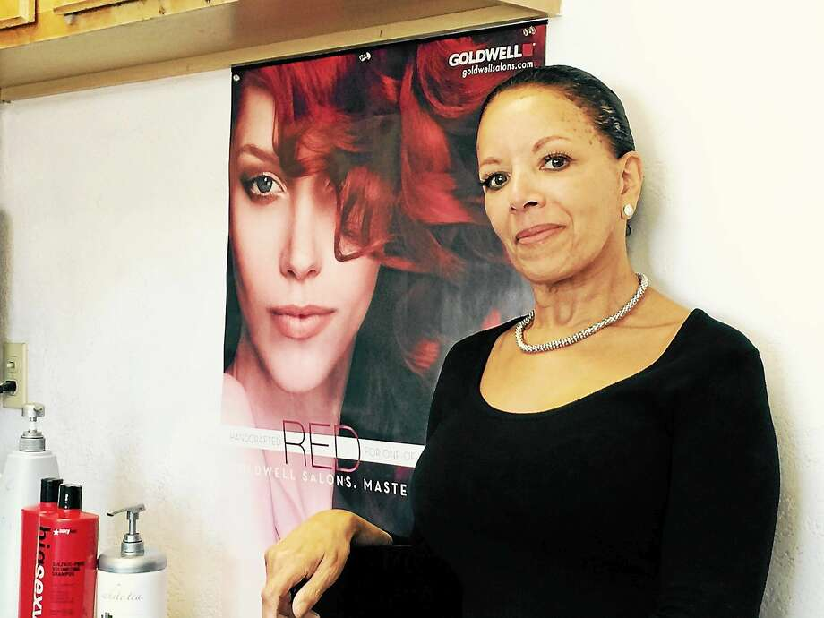 Georgina Mauriello inside Georgina's Hair Studio Photo: New Haven Register - Pam McLoughlin