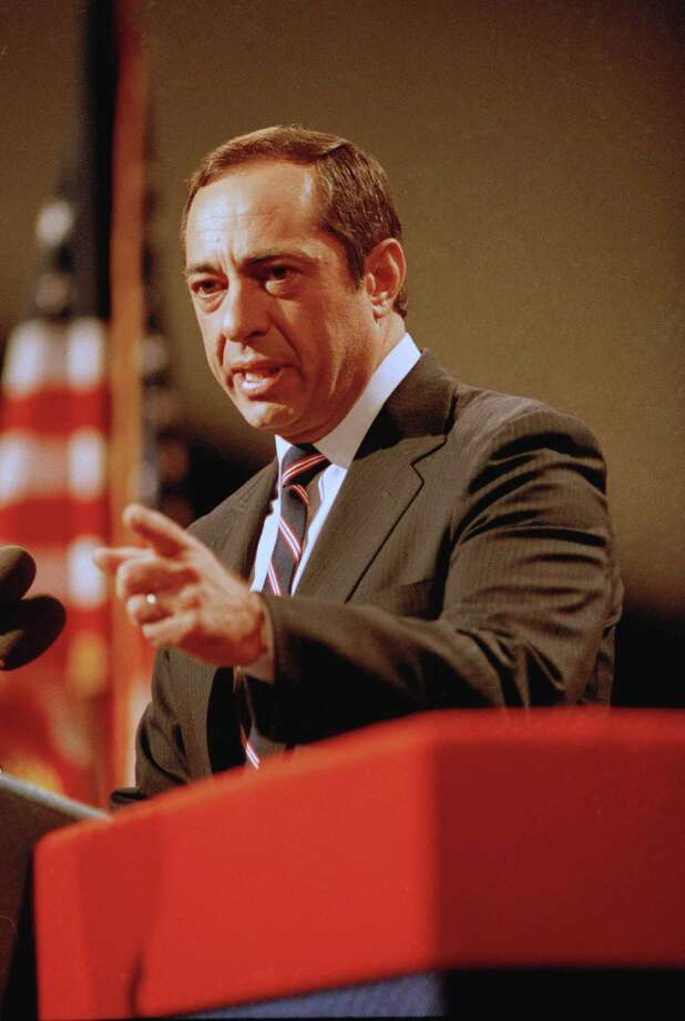 In this July 16, 1984, photo, New York Gov. Mario Cuomo delivers his keynote address to the Democratic National Convention in San Francisco. Photo: THE ASSOCIATED PRESS   / AP