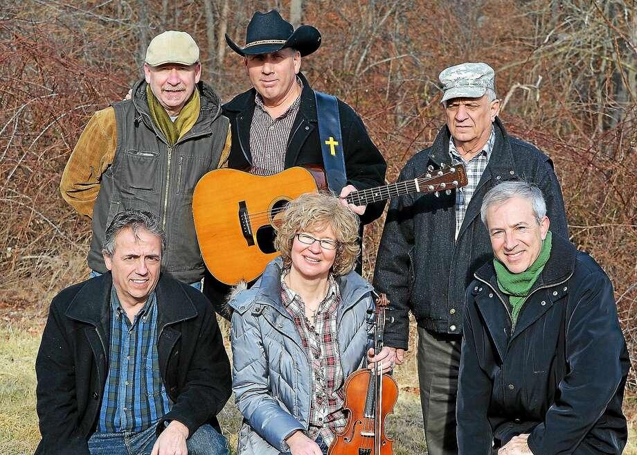 """Bandmates left to right, top row: Tony Cafiero, Laurence """"Pepi"""" Capezzone, Bob Masshee; bottom row: Phil Palmisano, Conny Winterhoss, Rick Gregoire. Photo: Journal Register Co."""