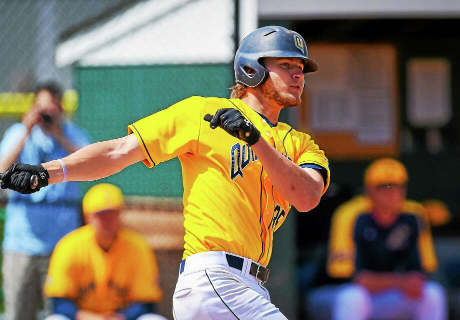 East Haven's Vincent Guglietti is finishing his career as one of the top hitters in Quinnipiac history. Photo: Submitted Photo   / © Copyright John Hassett 2015. All rights reserved.