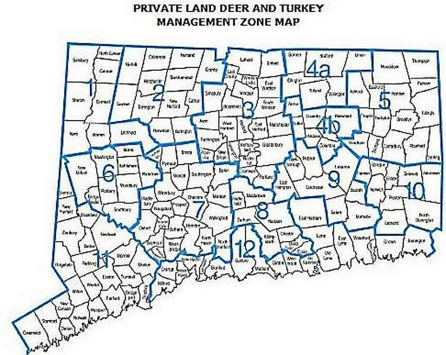 Deer Management Zones Photo: Courtesy Of The DEEP