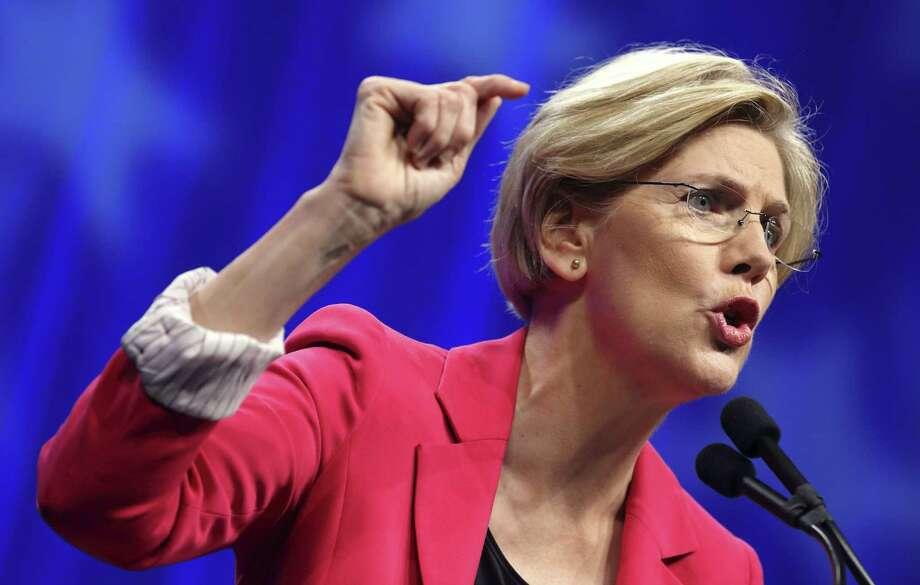 In this June 2, 2012, file photo, Massachusetts Democratic Senate candidate Elizabeth Warren speaks in Springfield, Mass. Photo: AP Photo   / AP