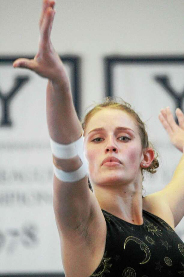 Senior captain Morgan Traina and Yale will compete at the USAG National Collegiate Championships on April 10-12 at Penn. Photo: Photo Courtesy Of Yale Athletics