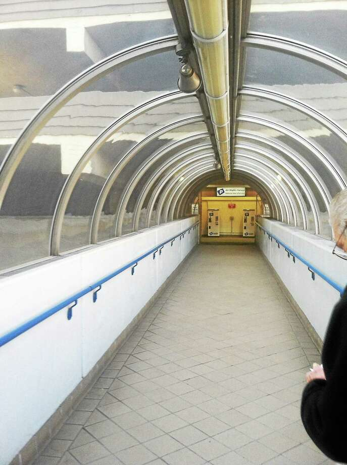 A corridor at Yale-New Haven Hospital Photo: New Haven Register File Photo