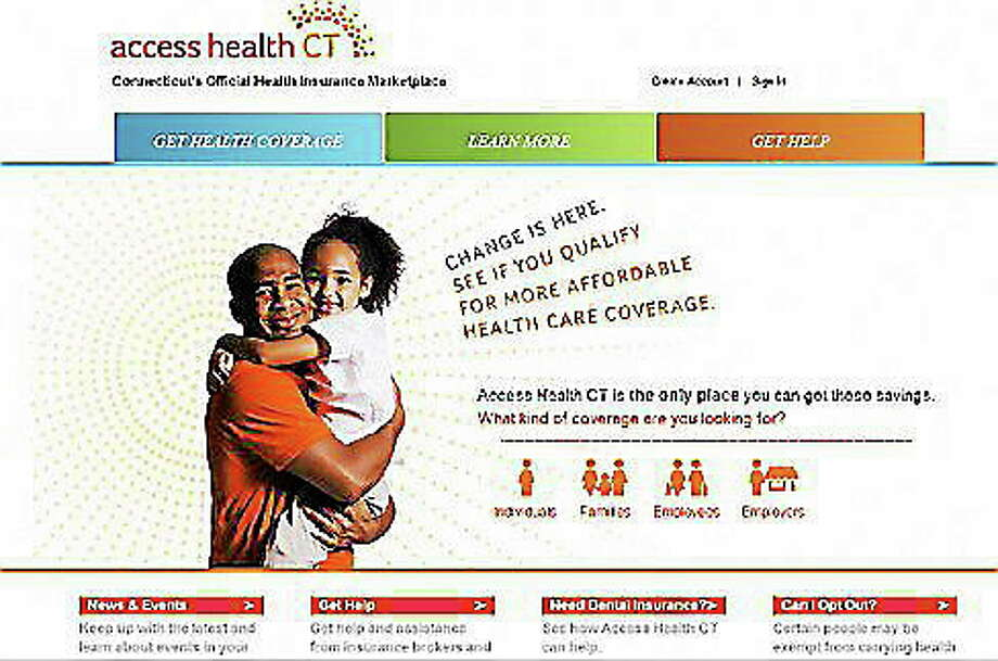Homepage for Access Health CT website Photo: Journal Register Co.