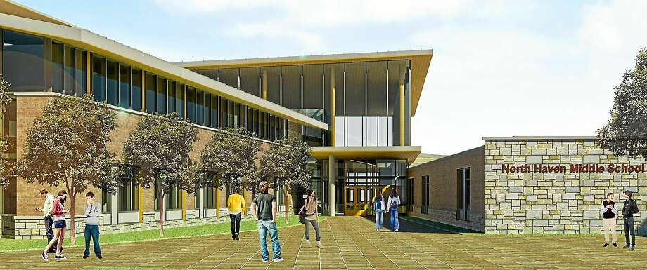 Rendering of what North Haven Middle School will look like after renovation is complete. Photo: Journal Register Co.