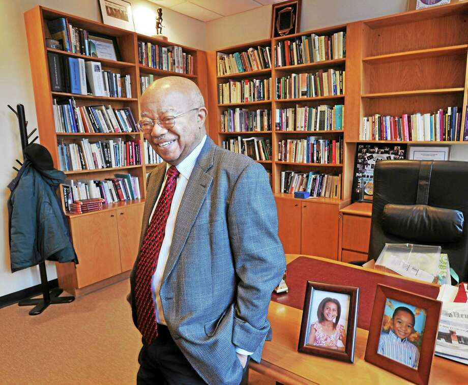 Dr. James Comer (here in his office at the Yale Child Study Center), the Maurice Falk Professor of Child Psychiatry at Yale and the founder of the Comer School Development Program. Photo: (File Photo)