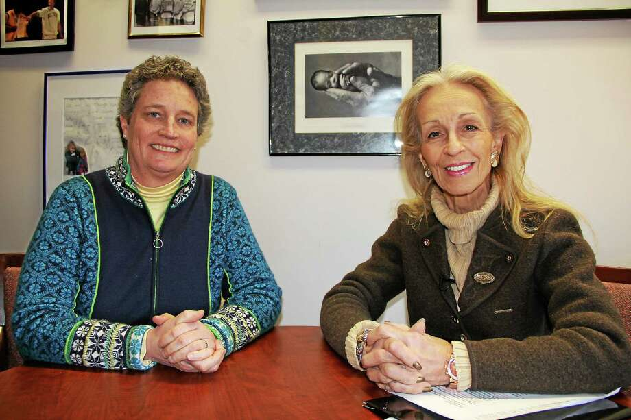 Connecticut State Sen. Beth Bye with CT Valley Views host Susan Regan in this 2014 file photo. Photo: Submitted Photo