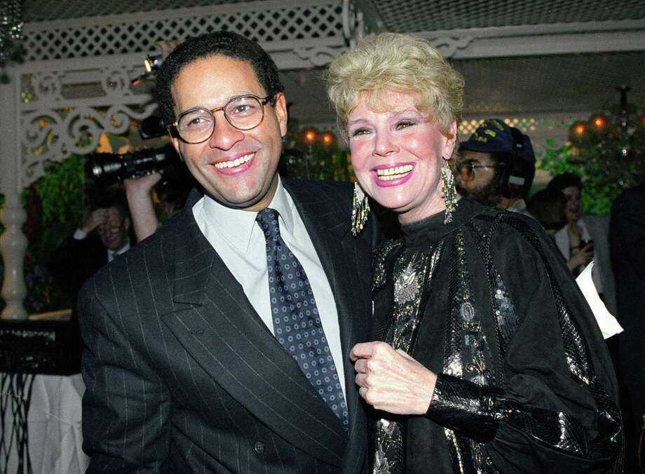 "In this Jan. 13, 1992, photo, NBC's ""Today"" show co-anchor Bryant Gumbel, left, and former member of the morning television show Betsy Palmer pose at the 40th anniversary party for the show in New York City. Photo: Mark Lennihan — The Associated Press   / AP"