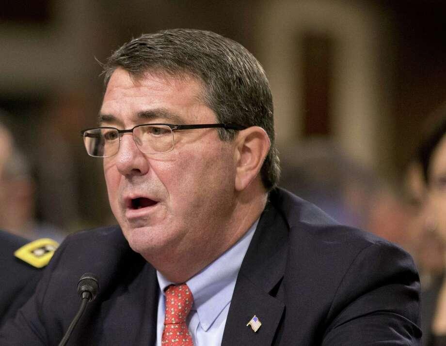 In this Feb. 12, 2013, file photo, Ashton Carter testifies on Capitol Hill in Washington. Photo: AP Photo   / AP