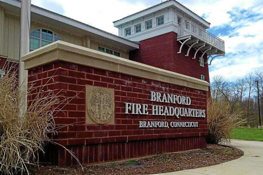 Outside Branford Fire headquarters on North Main Street. Photo: Esteban L. Hernandez — New Haven Register