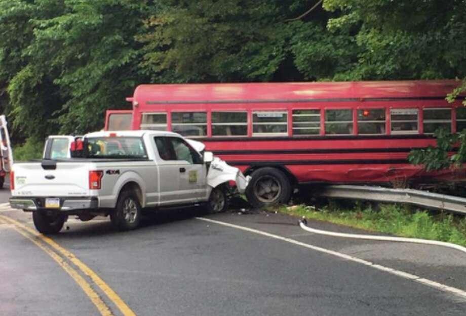 Several injured in crash involving bus and pickup
