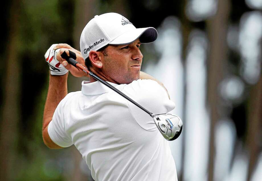 Sergio Garcia hits from the second tee during the final round of The Players Championship at TPC Sawgrass on May 11 in Ponte Vedra Beach, Florida. Photo: Lynne Sladky — The Associated Press File Photo   / AP2014