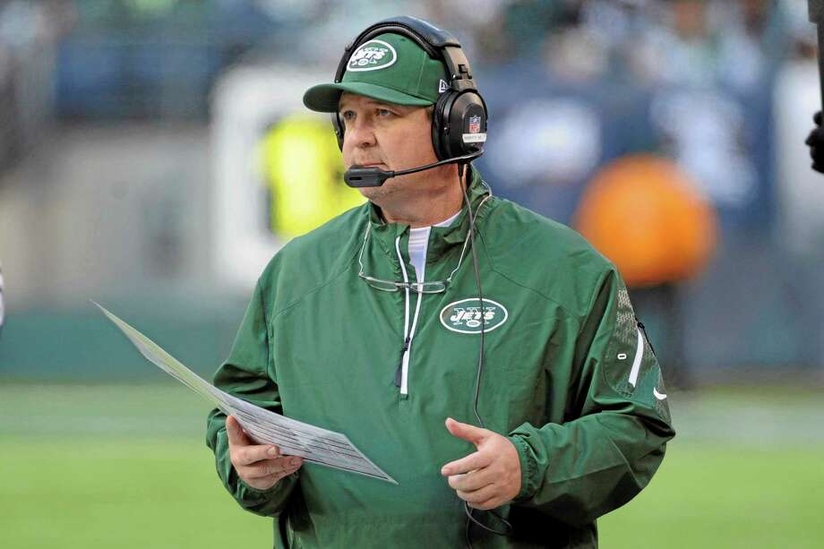 New York Jets coach Marty Mornhinweg's offense has had a rough start to training camp. The offensive coordinator, in his second season with the Jets, is trying to get a group that appears much-improved from last year with the additions of Eric Decker and Chris Johnson through some early growing pains. Photo: Bill Kostroun — The Associated Press File Photo   / FR51951 AP
