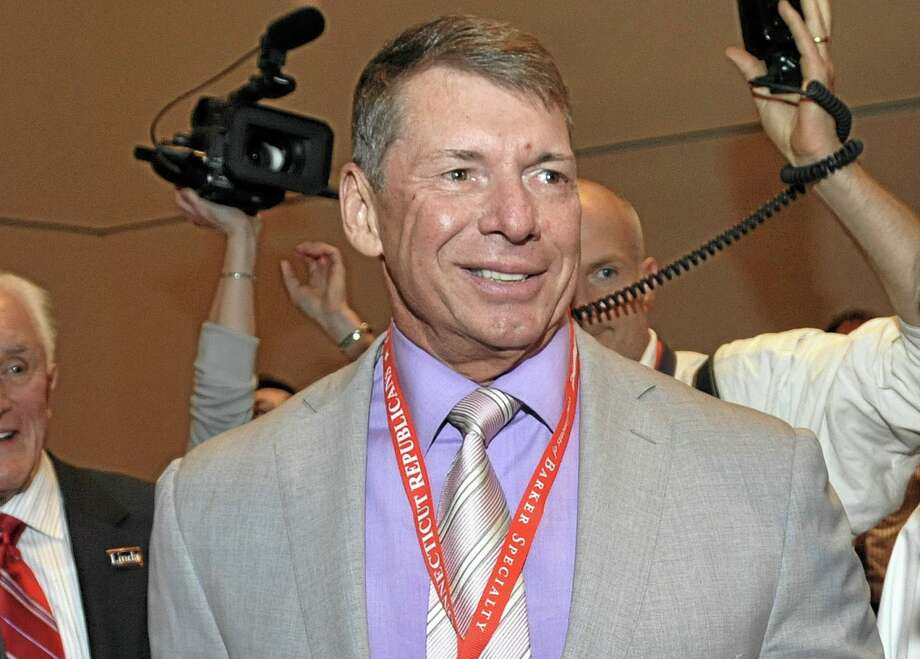 In this May 21, 2010 file photo, WWE Chairman and Chief Executive Officer Vince McMahon is shown at the Connecticut Republican Convention in Hartford. Photo: Jessica Hill — The Associated Press File Photo   / FR125654 AP