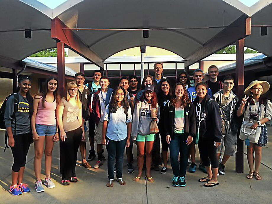 Students from Mark T. Sheehan and Lyman Hill high schools left Wednesday for a 10-day trip to China as part of the first-ever Junior Achievement international exchange program. Photo: Contributed Photo