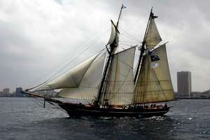 FILE - In this March 25, 2010 file photo, the U.S.-flagged replica schooner Amistad nears the port of Havana during a voyage to Cuba. On Thursday, Aug. 21, 2014, a Connecticut judge appointed a receiver to take over the operations and finances of the group that runs the Amistad, the state's official flagship, after state Attorney General George Jepsen accused the organization of poor management and record-keeping. The 129-foot Baltimore clipper, based in New Haven, is a replica of a ship taken over by African captives being transported to Cuba in 1839. With help from abolitionists, they won their freedom in a landmark legal case that started in Connecticut and ended in the U.S. Supreme Court. (AP Photo/Javier Galeano, File)