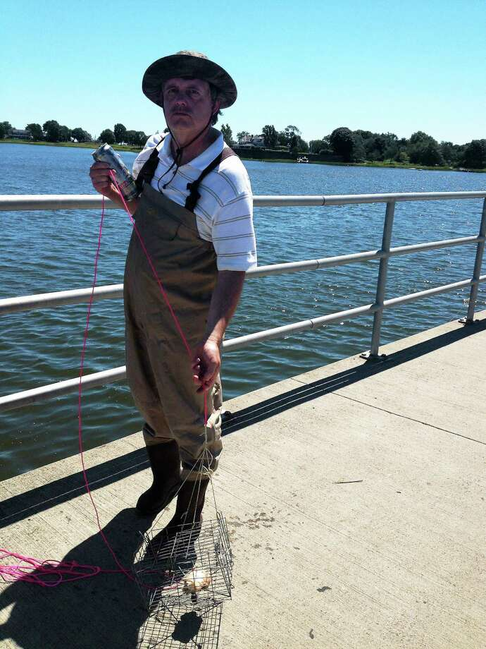 """Jil Nelson's """"Crabbing,"""" Aug. 12, 2012, 4 p.m., Old Saybrook. Photo: Journal Register Co."""