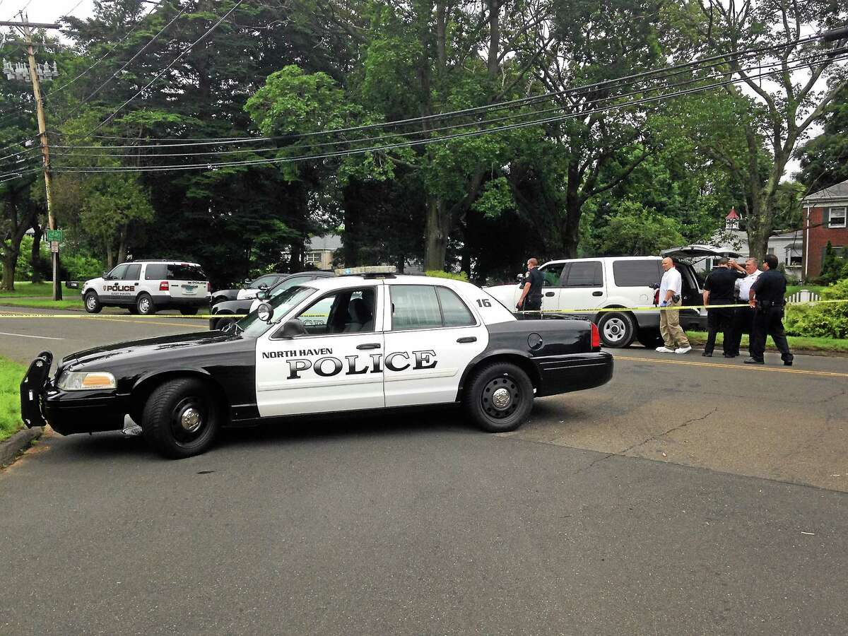 North Haven Police investigate a fatal accident on Middletown Avenue on July 16.