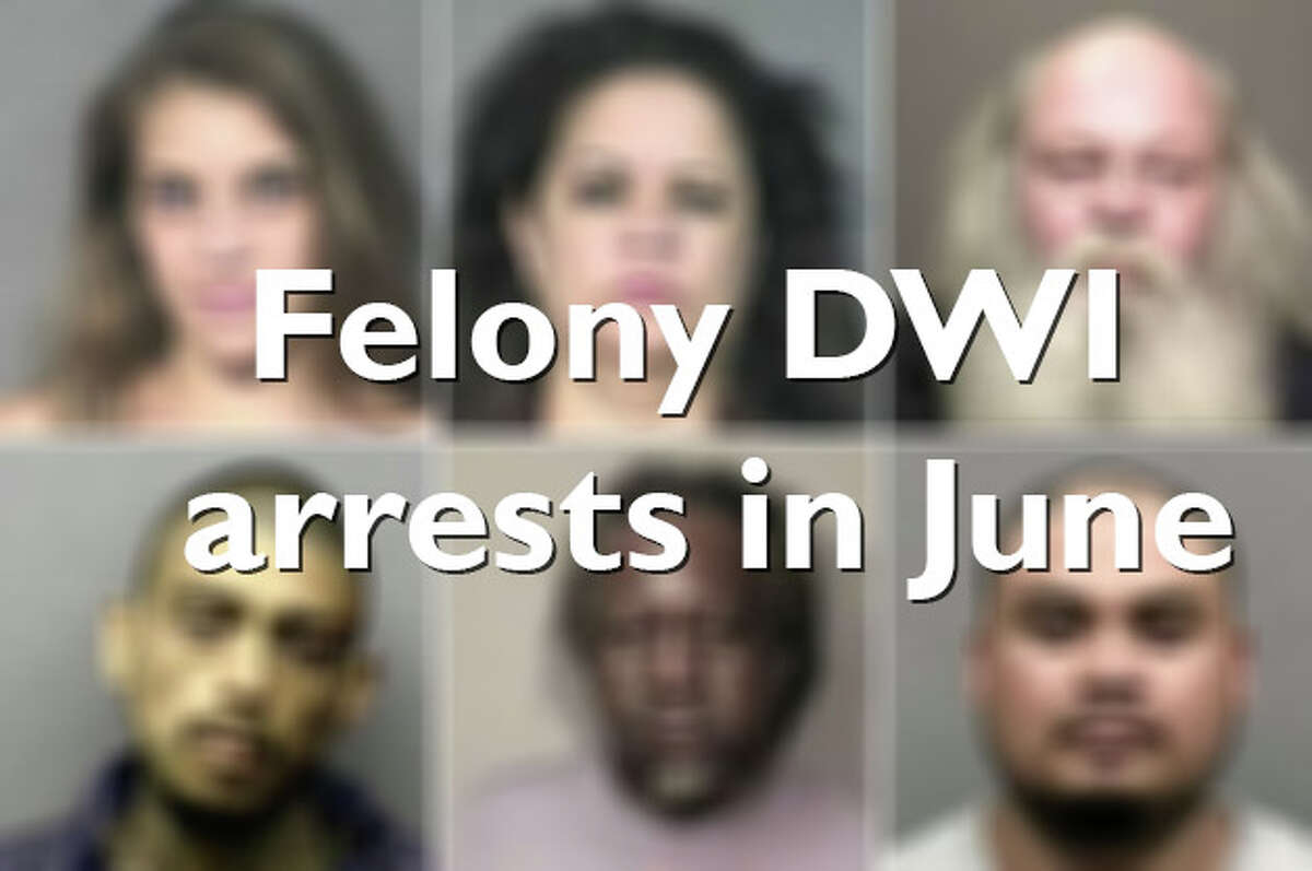 Click through to see photos of men and women charged with DWIs in Houston in June.