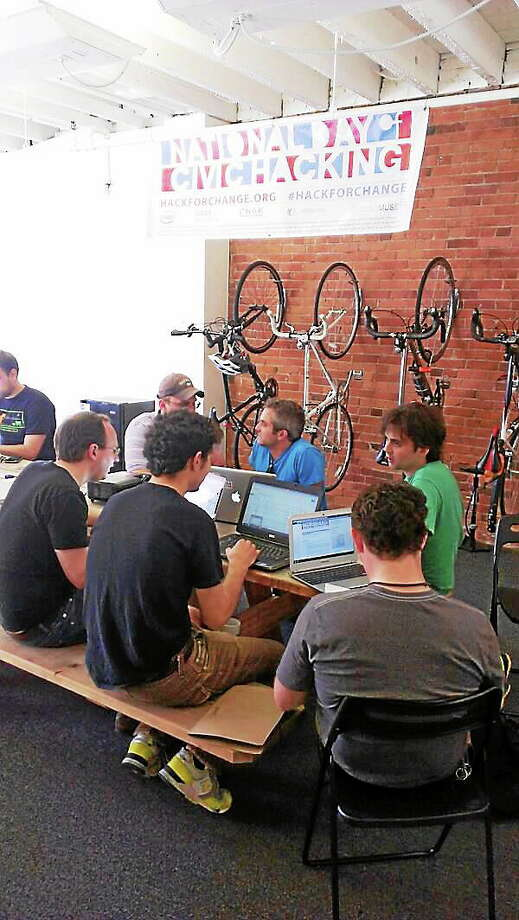 Last year's civic hackathon drew 25 programmers, designers and folks who love open data. Photo: Journal Register Co.