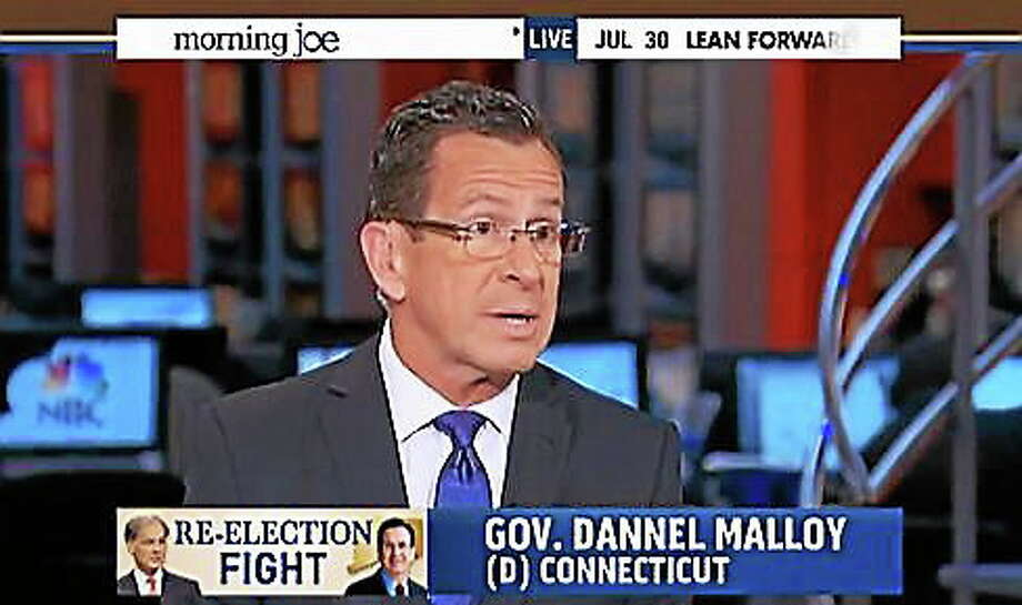 Gov. Dannel Malloy. Screen capture courtesy of CT News Junkie Photo: Journal Register Co.