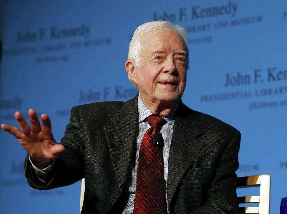 "Former President Jimmy Carter speaks during a forum Nov. 20 at the John F. Kennedy Presidential Library and Museum in Boston. Among other topics, Carter discussed his new book, ""A Call to Action:  Women, Religion, Violence, and Power."" Photo: Associated Press   / AP"