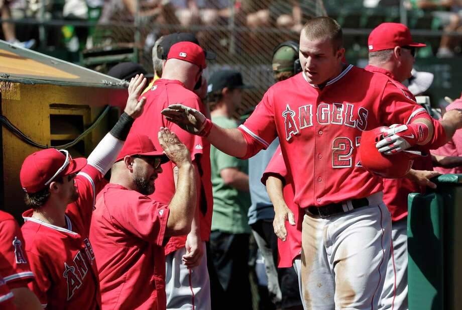 Mike Trout and the Angels finish the regular season atop David Borges MLB rankings, though Borges does have some concerns about Los Angeles in the playoffs. Photo: The Associated Press   / AP