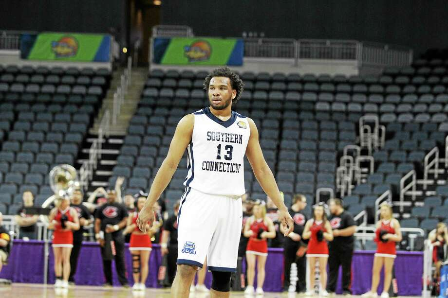 Southern Connecticut State star Greg Langston was the only senior on this year's Elite Eight team. He feels the program is in great hands with head coach Mike Donnelly, assistant Mike Makubika and the 12 Owls who will be returning next season. Photo: Andrew Mather — Central Missouri Athletics