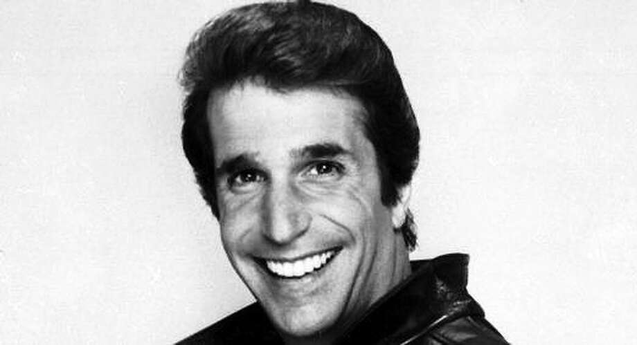 "Henry Winkler as ""The Fonz"" in 1984. AP Photo: Journal Register Co."