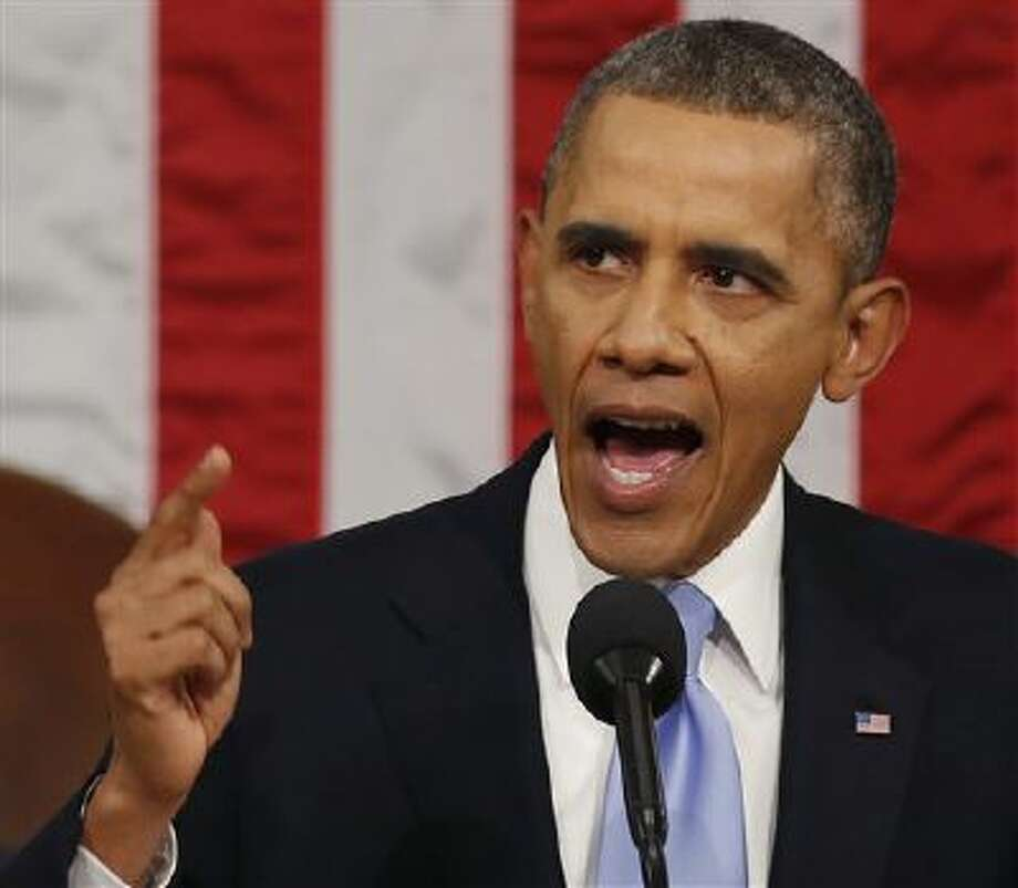 President Barack Obama delivers the State of Union address Tuesday night. Photo: Ap / Pool Reuters
