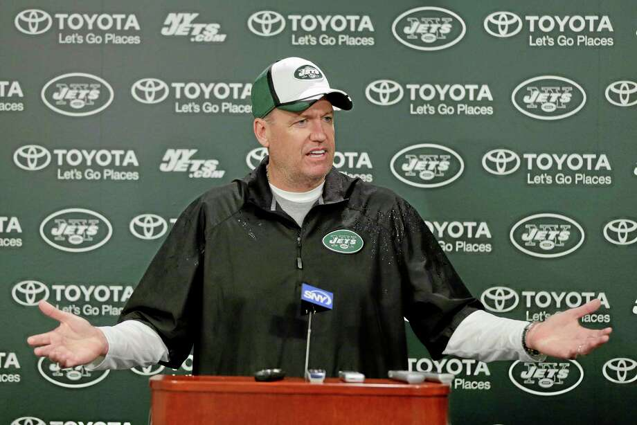 """New York Jets head coach Rex Ryan said Wednesday the team will be without offensive lineman Willie Colon for """"a while."""" Photo: Julie Jacobson — The Associated Press   / AP"""