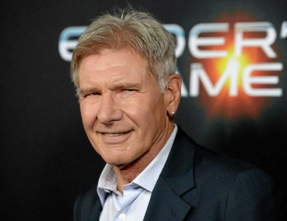 "This Oct. 28, 2013, file photo shows actor Harrison Ford at the LA Premiere of ""Ender's Game"" in Los Angeles. Photo: (Jordan Strauss — The Associated Press) / Invision"