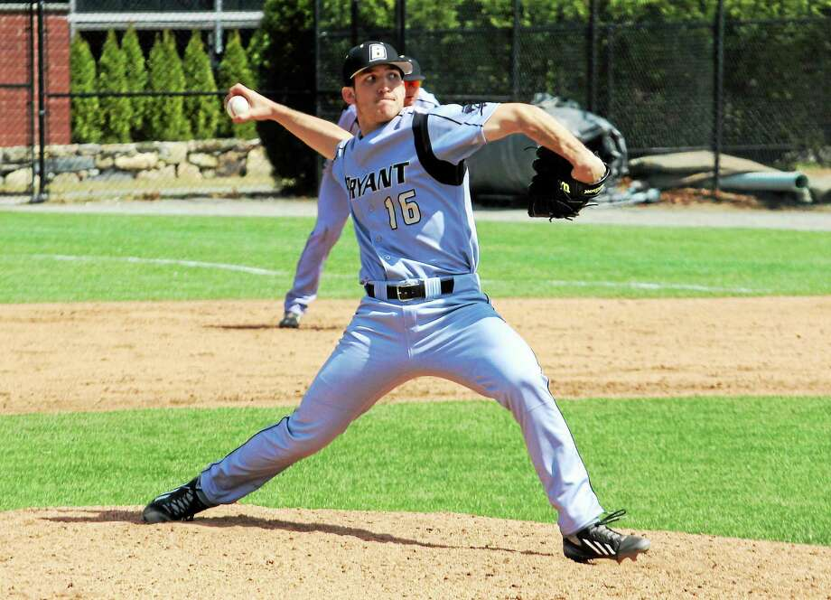 Guilford's Craig Schlitter will be pitching for Bryant this weekend in the Baton Rouge regional. Photo: Photo Courtesy Of Bryant Athletics