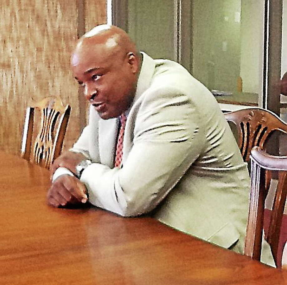 John Taylor, new executive director of the Booker T. Washington Academy, speaks to the New Haven Register editorial board Tuesday. Photo: NEW HAVEN REGISTER