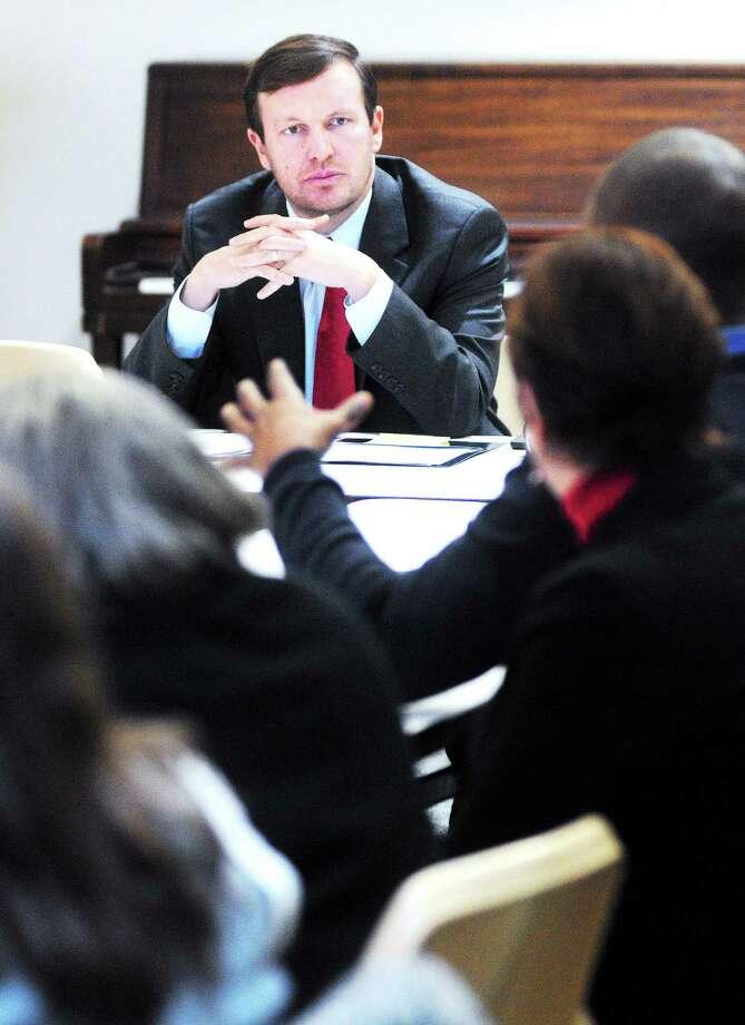 File photo: U.S. Senator Chris Murphy on 1/2/2014. Photo: (Arnold Gold - New Haven Register)