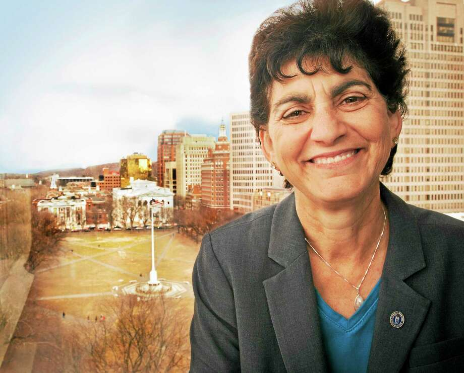Southern Connecticut State University President, Mary Papazian, in the school's new space at 900 Chapel Street 3/26. Photo: (Melanie Stengel - New Haven Register)      / PETER HVIZDAK