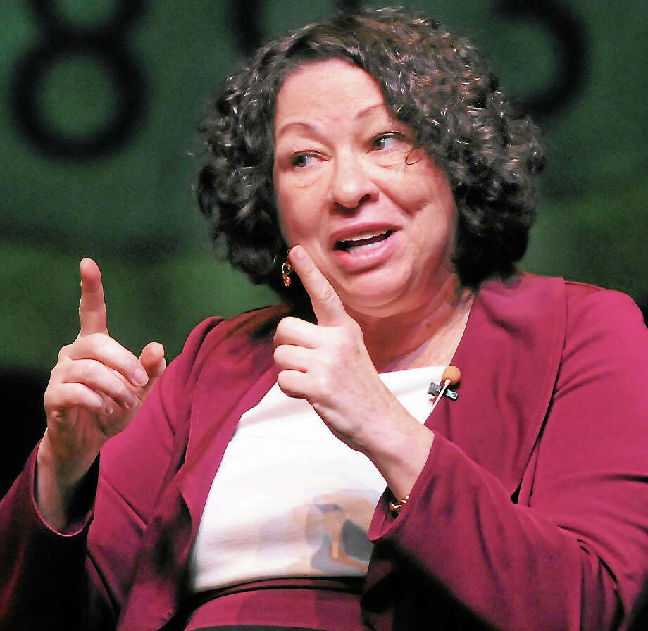 U.S. Supreme Court Associate Justice Sonia Sotomayor speaks at Southern Connecticut State University in New Haven in October 2013. Photo: Mara Lavitt — New Haven Register       / Mara Lavitt