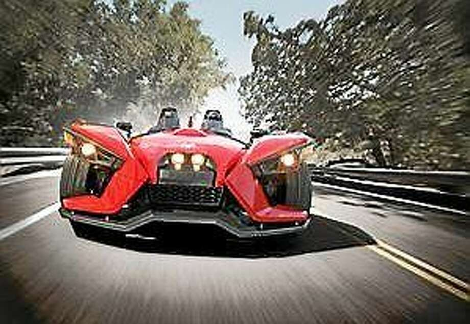 "Screenshot via <a href=""http://rep-am.com/news/local/845196.txt"">rep-am.com</a>: The three-wheel Slingshot by Polaris Industries. Photo: Journal Register Co."