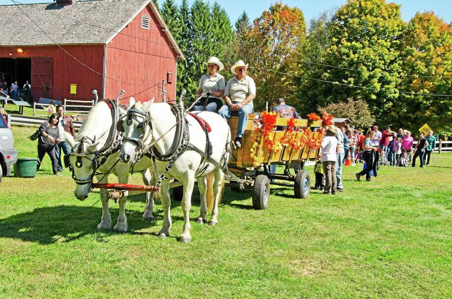 The popular hayride at last year's festival. Photo: Contributed Photo