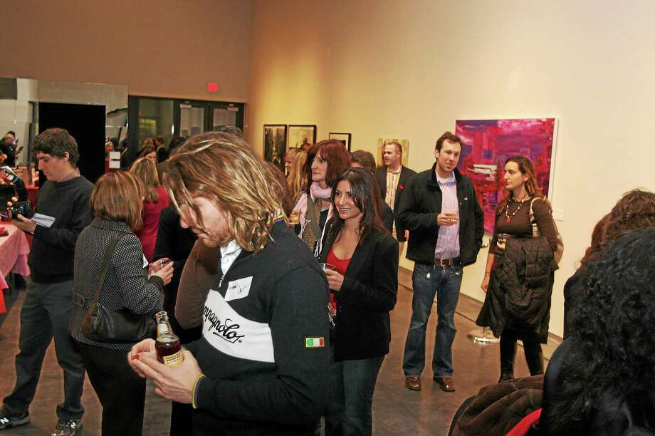 Arts Council photo  Artspot! is for mingling among live jazz and artwork. Photo: Journal Register Co.