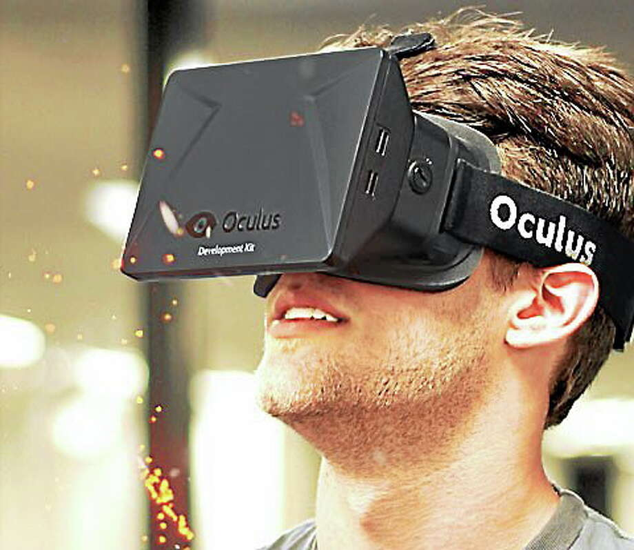 OCULUS  An image from Oculus' website shows the Oculus Rift, a new virtual reality headset. Photo: Journal Register Co.