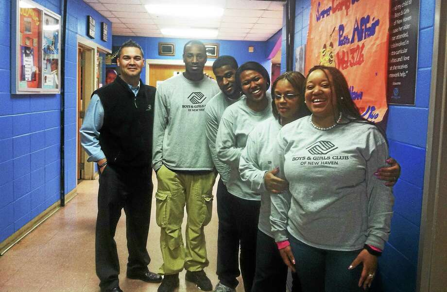 Some of the staff at the Boy & Girls Club of new Haven Photo: Journal Register Co.
