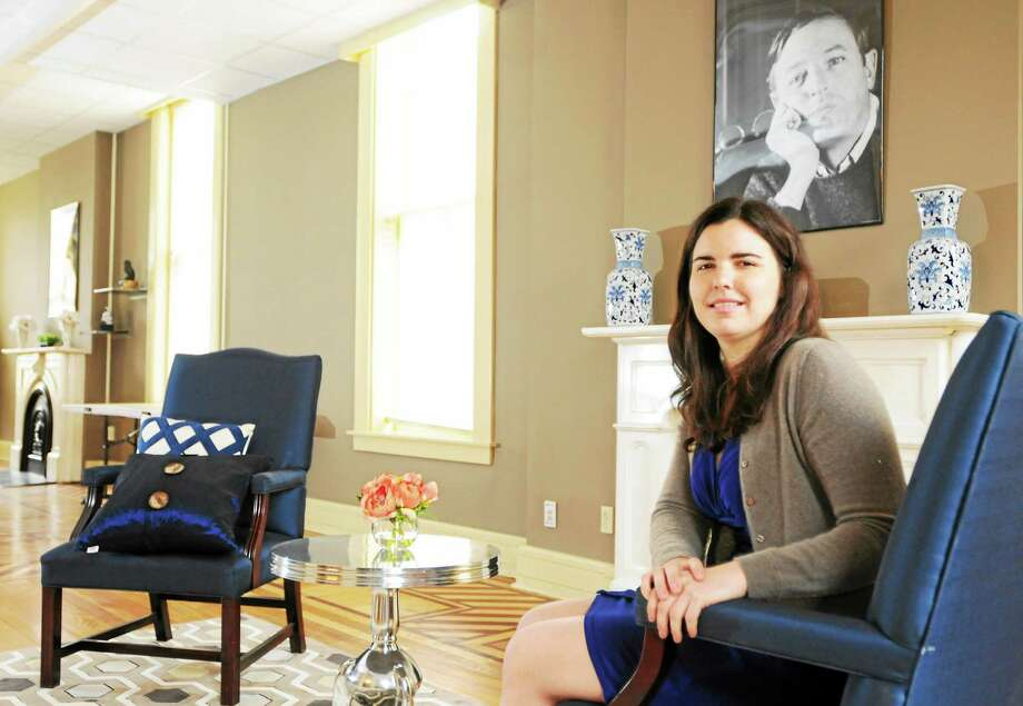 Executive Director Lauren Noble sits in the Main Room of the new home of the William F. Buckley Jr. Program at Yale on 111 Whitney Ave. Photo: Peter Hvizdak - New Haven Register    / ©Peter Hvizdak /  New Haven Register
