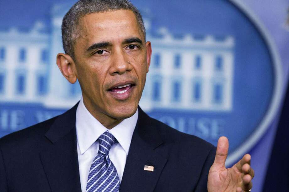 President Barack Obama speaks to the media in the briefing room of the White House, Monday, Nov. 24, 2014, in Washington, after the Ferguson grand jury decided not to indict police officer Darren Wilson in the shooting death of Michael Brown. (AP Photo/Jacquelyn Martin) Photo: AP / AP