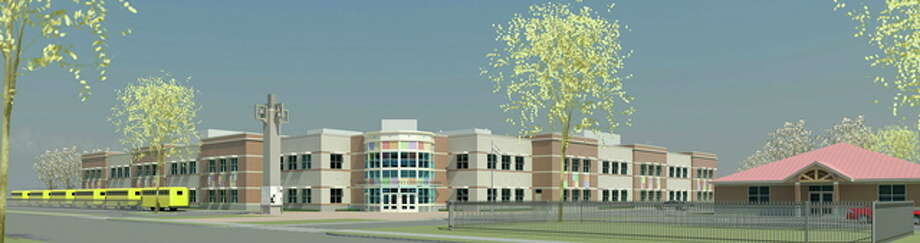 CONTRIBUTED IMAGE  A rendering of the Dr. Reginald Mayo Early Childhood School. Photo: Journal Register Co.