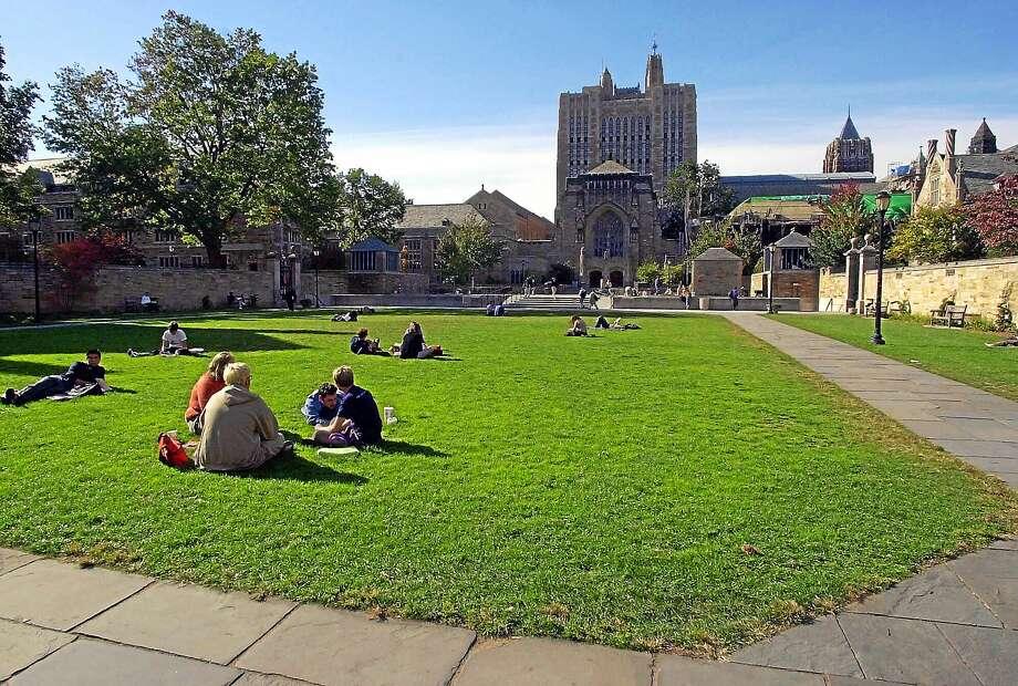 (AP Photo/Bob Child/file)  Yale University's Cross Campus in New Haven, Conn. Photo: AP / 2000 AP
